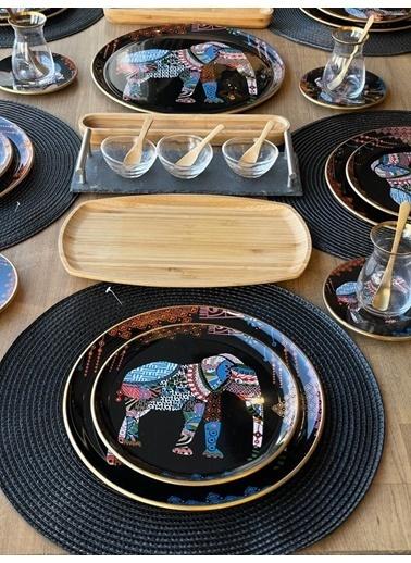 ROSSEV Kahvaltı Takımı Elephant Siyah 57 Parça 6 Kişilik Renkli